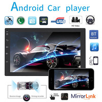 7 Inch QUAD Core Android 7.0 2 Din Bluetooth Car Radio Stereo MP5 Player Digital Touch Screen GPS Navigation Support Mirror Link