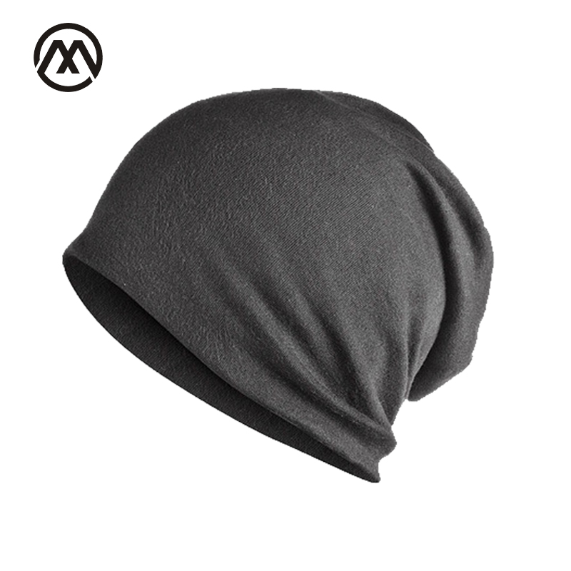 2017 Brand Solid Color Autumn Winter Hedging Cap Men Women Skullies Double Layer Thin Cotton Maternal Hat  Bonnet knitted Cap winter women hedging skullies beanies knitting caps bonnet double layer cotton knitted hat lace cap