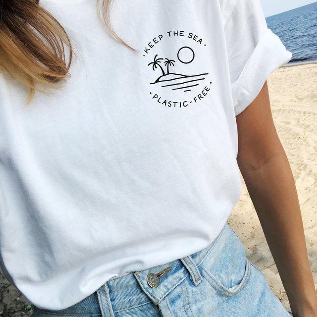 Keep The Sea Plastic Free  T-Shirt