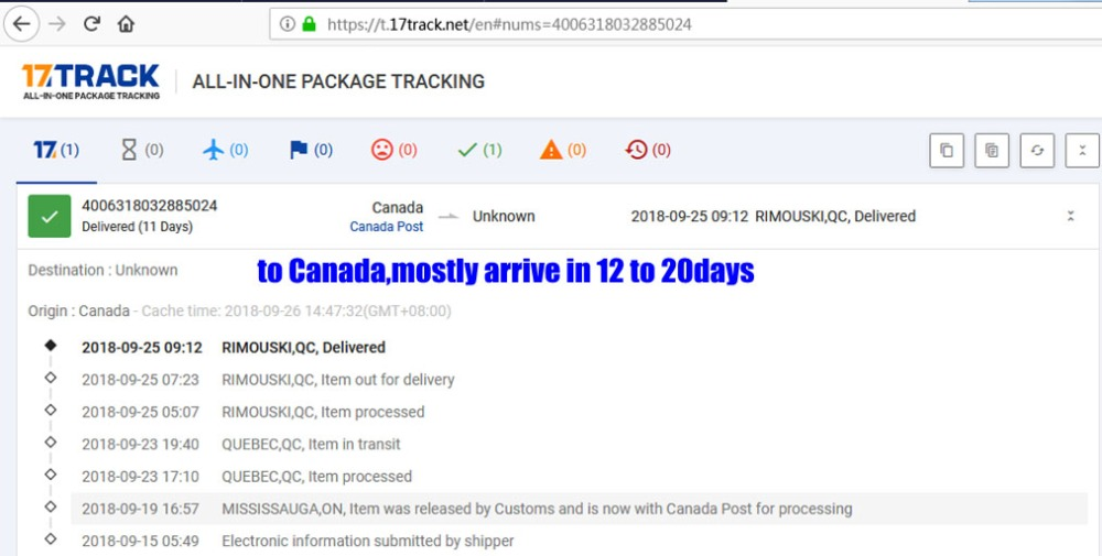 to canada 11days