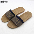 2017 High Quality The New Summer Home Slippers Indoor Shoes Flax Slippers Non-Slip Candy Colors men Soft Botton Slippers