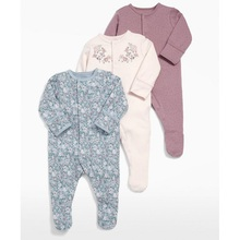 Baby Girl Romper 3pcs Newborn Sleepsuit Flower Baby Rompers 2018 Infant Baby Clothes Long Sleeve Newborn Jumpsuits Baby Pajamas cheap liplify Single Breasted Full Unisex Fits true to size take your normal size O-Neck 100 cotton Cartoon 3M-6M-9M-12M Spring Autumn Winter