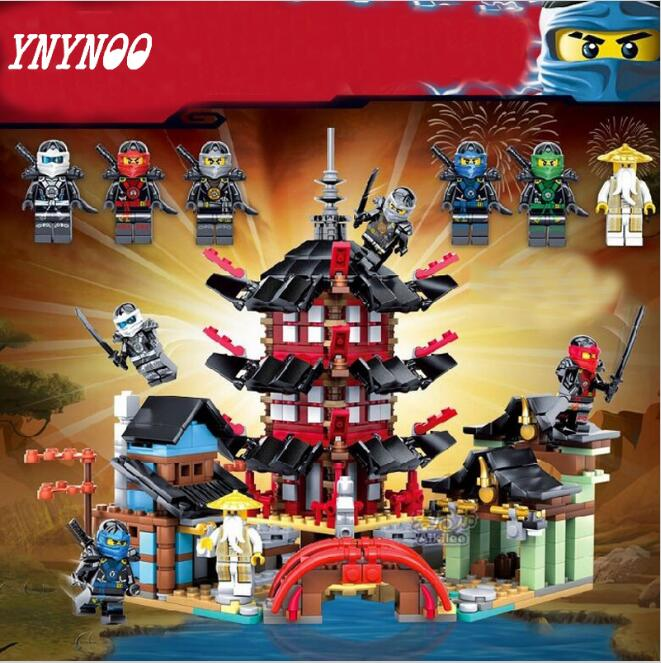 YNYNOO Ninja Temple of Airjitzu Ninja Smaller Version Bozhi 737 pcs Blocks Set with Lepin Toys for Kids Building Bricks fundamentals of physics extended 9th edition international student version with wileyplus set