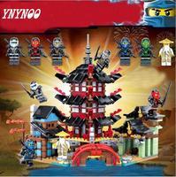 YNYNOO Ninja Temple Of Airjitzu Ninja Smaller Version Bozhi 737 Pcs Blocks Set With Lepin Toys