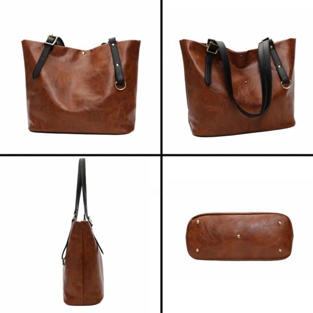 High Quality PU Women Shoulder Bag Female Handbag Causal Totes Shopping All-Purpose Handbag For Women Leather Bag 3