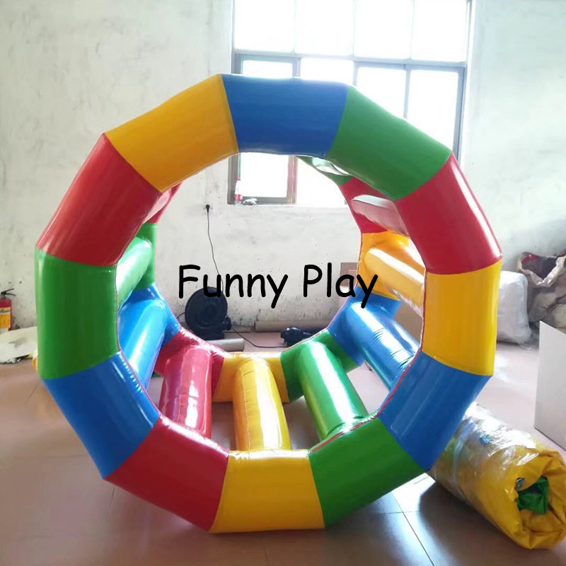 human hamster inflatable water roller ,yellow color inflatable water wheel for water park water sport game inflatable water roll