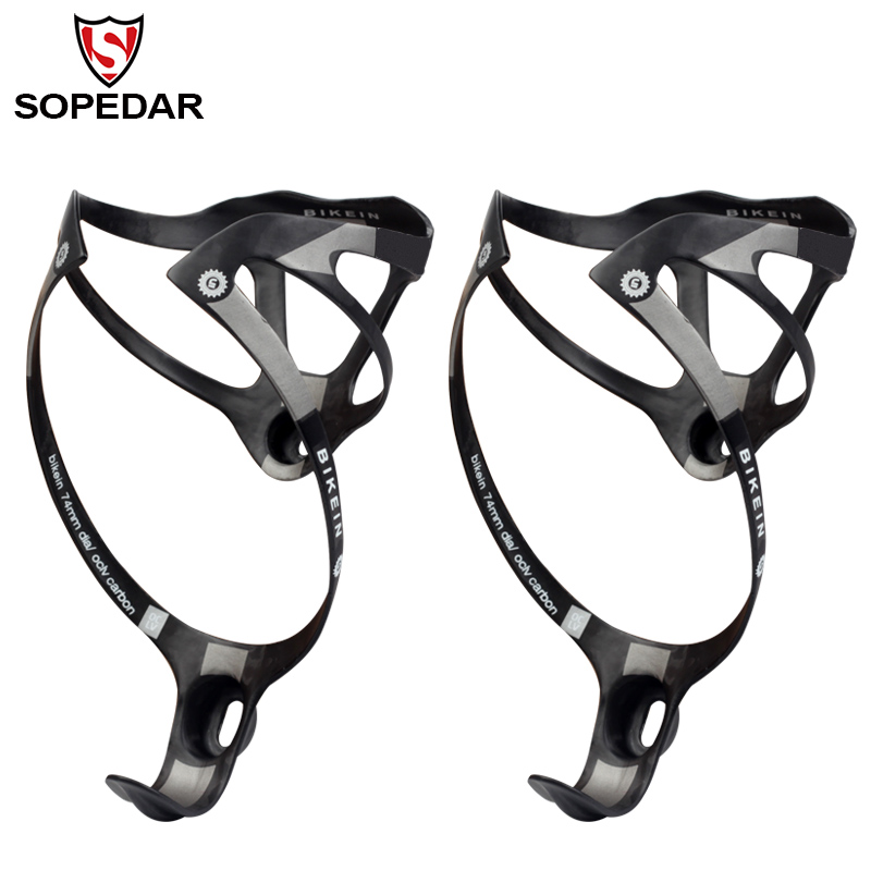 SOPEDAR Ultralight UD Carbon Road Bicycle Water <font><b>Bottle</b></font> Holder Black/White Mountain <font><b>Bike</b></font> <font><b>Bottle</b></font> <font><b>Cage</b></font> Cycling MTB Parts 16g/piece image