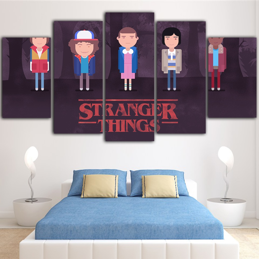 5 Piece Wall Pictures For Living Room Quadro Decoration