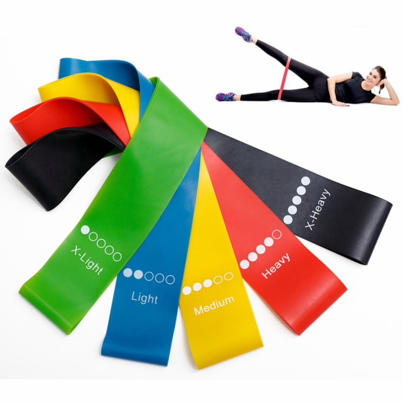 5Pcs/Set Yoga Resistance Rubber Bands Fitness Equipment 0.35mm-1.1mm Pilates Sport Training Workout Elastic Bands