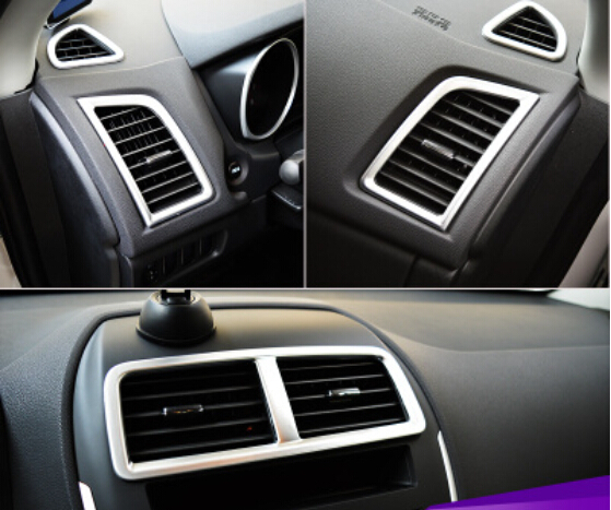 for mitsubishi outlander sport asx 2013 2014 2015 interior air conditioning vent rings cover trim 5pcs