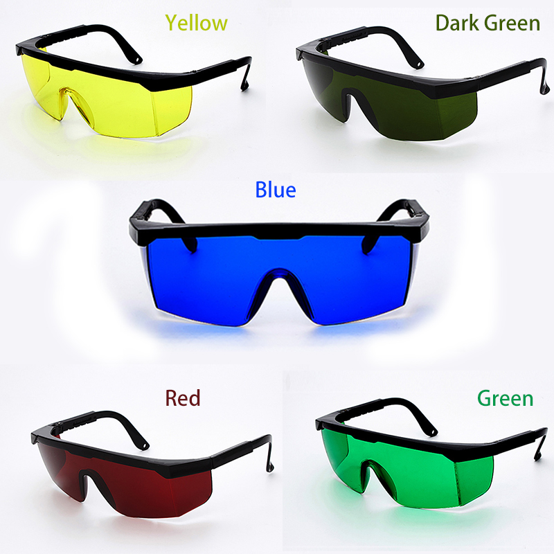 5 Colors Laser Safety Glasses Welding Goggles Sunglasses Green Yellow Eye Protection Working Welder Adjustable Safety Articles(China)