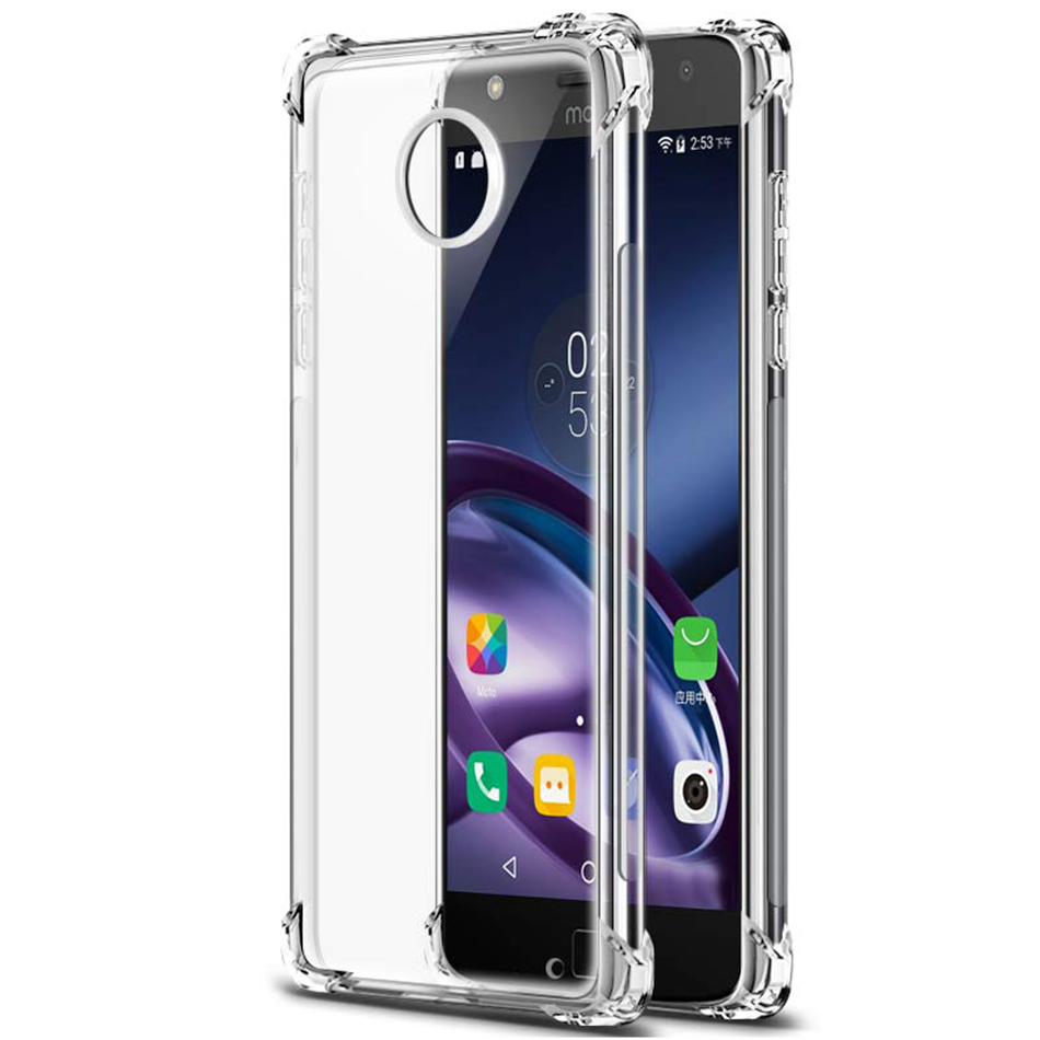 100% Quality For Motorola Moto G6 Plus G4 G5 G5s C E4 Plus Z Z2 Play Air Cushion Case Clear Crystal Silicone Tpu Gel Full Protection Cover Attractive Designs;