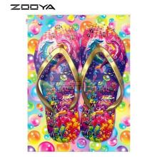 DIY Diamond Painting-Crafts Decorative-Painting Embroidery Mosaic Square Full Flip-Flops