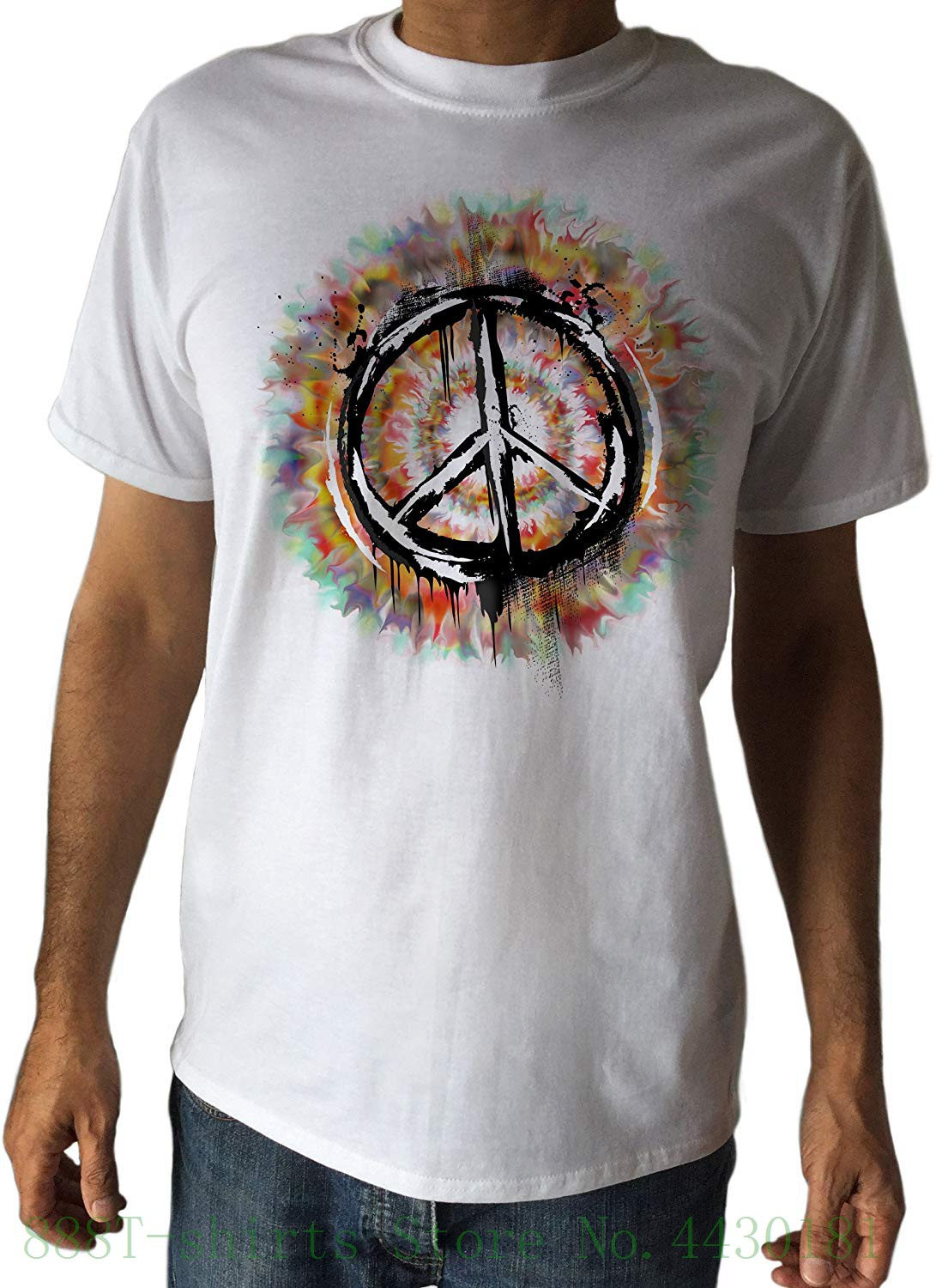 For Peace T For Military Man Cnd Dye Peace Logo Retro And Against Hippy - Warfare Panel C17 - 2 Short Sleeve T-shirt