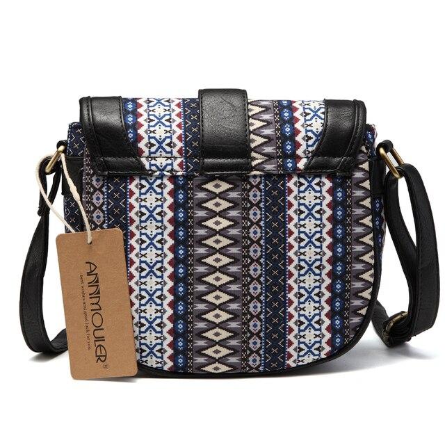 Women Shoulder Sling Bag Vintage Small Bag Pu Leather Patchwork Crossbody Bag Bohemian Style Lady Messenger Bag 2