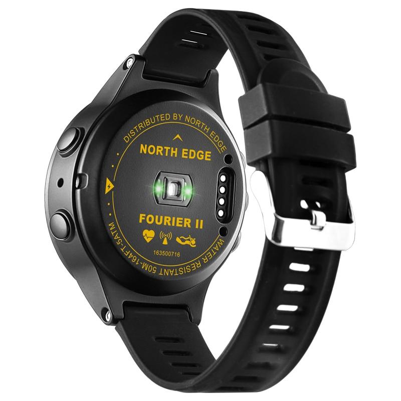 NORTH EDGE montre de sport GPS pour hommes montres numériques résistantes à l'eau fréquence cardiaque militaire altimètre baromètre boussole heures de course - 3