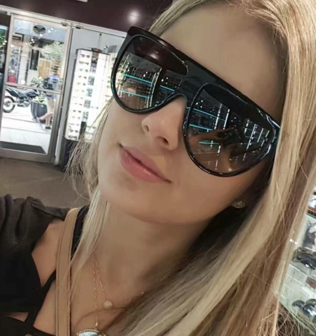 2017 Brand Designer Women Retro Flat Top Sunglasses Vintage Acetate Shaded Lens Thin Shadow Glasses Men Oculos De Sol 744M 2