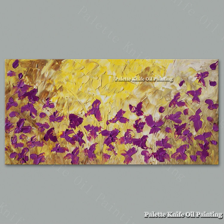 Aliexpress.com : Buy Hand Painted Palette Knife Flowers Oil Painting ...