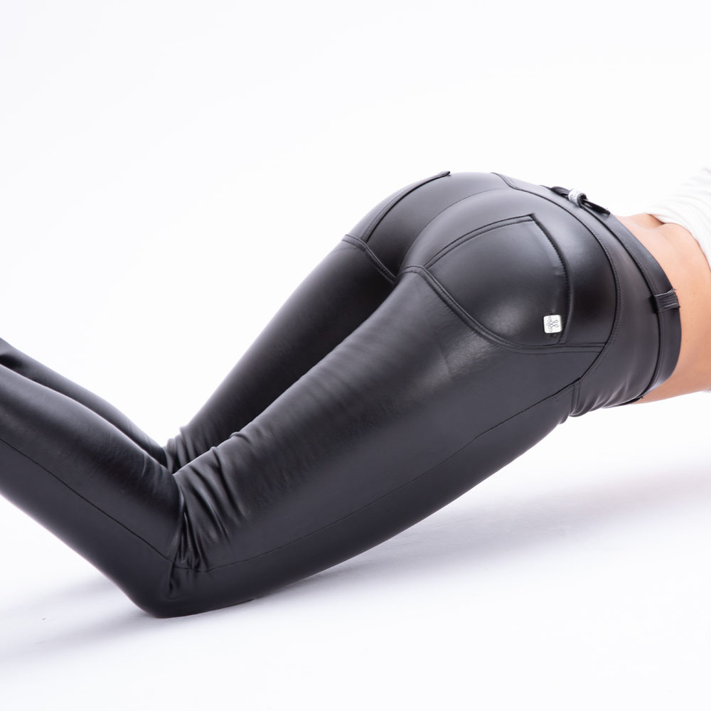 Melody Leather Low Waist Long Yoga Pants Manufacturer Butt