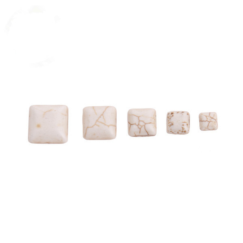 10pcs Multi Size White Natural Stone Cabochon For Pendant Blank Base Tray DIY Jewelry Findings&components F1408