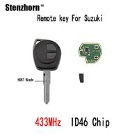 Stenzhorn 3pcs 433Mhz Remote Key For Suzuki Swift SX4 Alto Vitara Ignis Jimny Splash 2006 2007