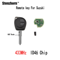 Stenzhorn 3pcs 433Mhz Remote Key For Suzuki Swift SX4 Alto Vitara Ignis Jimny Splash 2006 2007