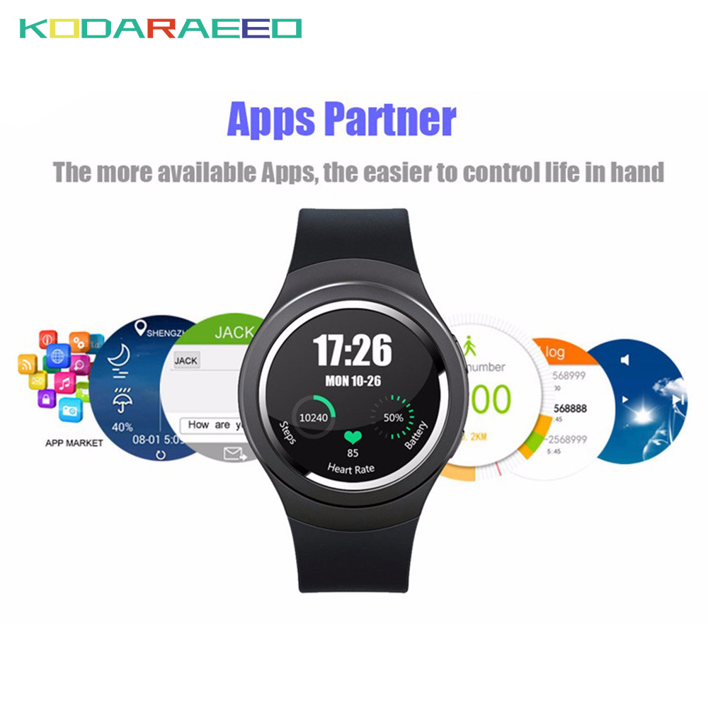 Bluetooth Smart Watch Android 5.1 MTK6580 Quad Core 1GB+8GB Heart Rate tracker Smartwatch phone Clock For iOS Android watch men цена