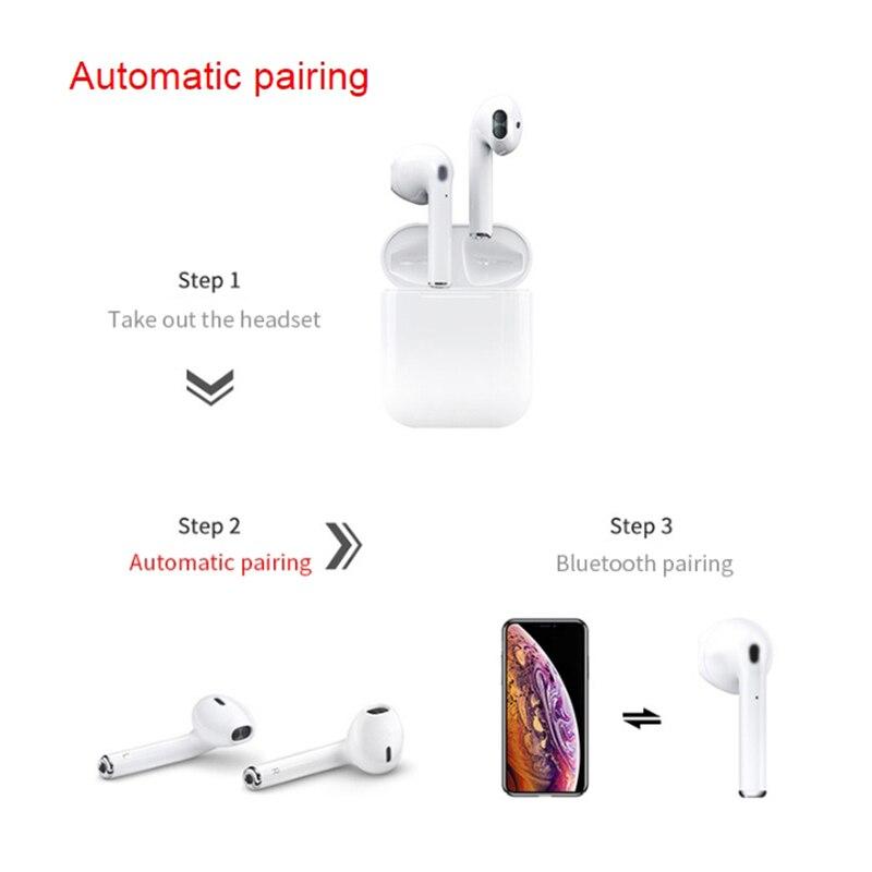 i12 TWS Touch ControlAir pods Wireless 5.0 super bass earbuds pk i10 i88 i13 i14 tws for   ear pods