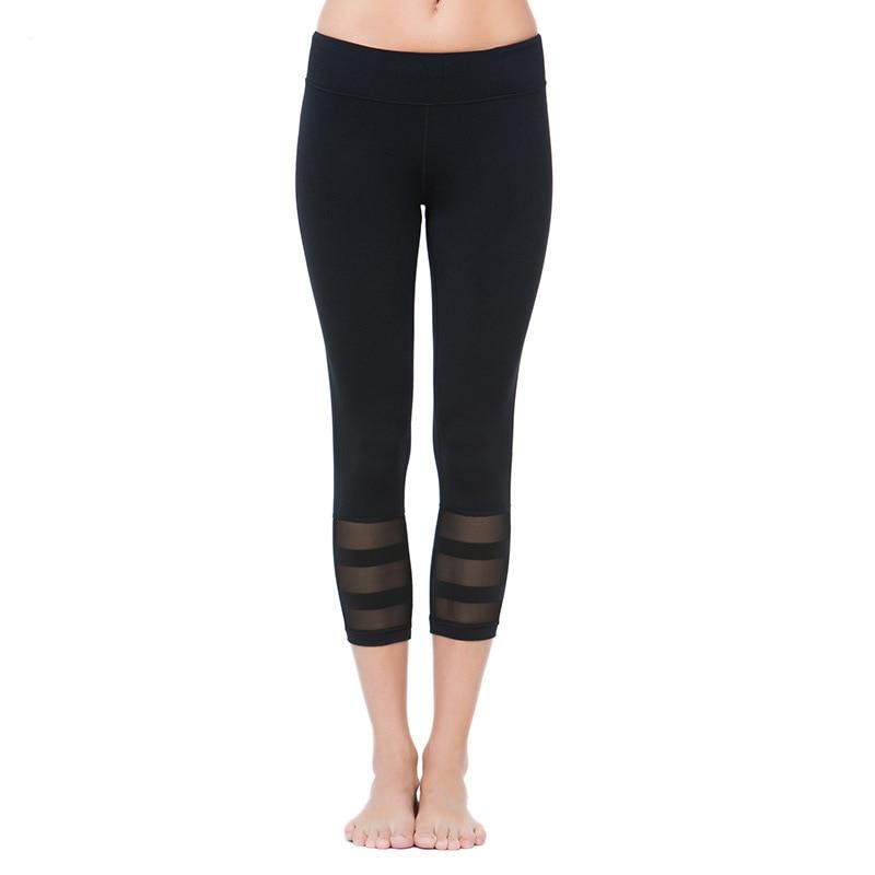 f0420f7b Vertvie mesh elastyczne fitness rajstopy kobiety trzy czwarte długości  spodnie gym yoga sportowe legginsy spodnie do biegania kompresji nowy 2017  w ...