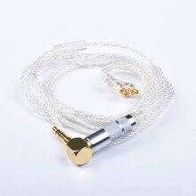 Shure se215 se535 se846 headphone cable single crystal copper silver plated earphone upgrade line 2016 new weasy 8 core earphone upgrade silver plated cable for shure se215 se846 se535 vt lza3 lza4 headset audio cable