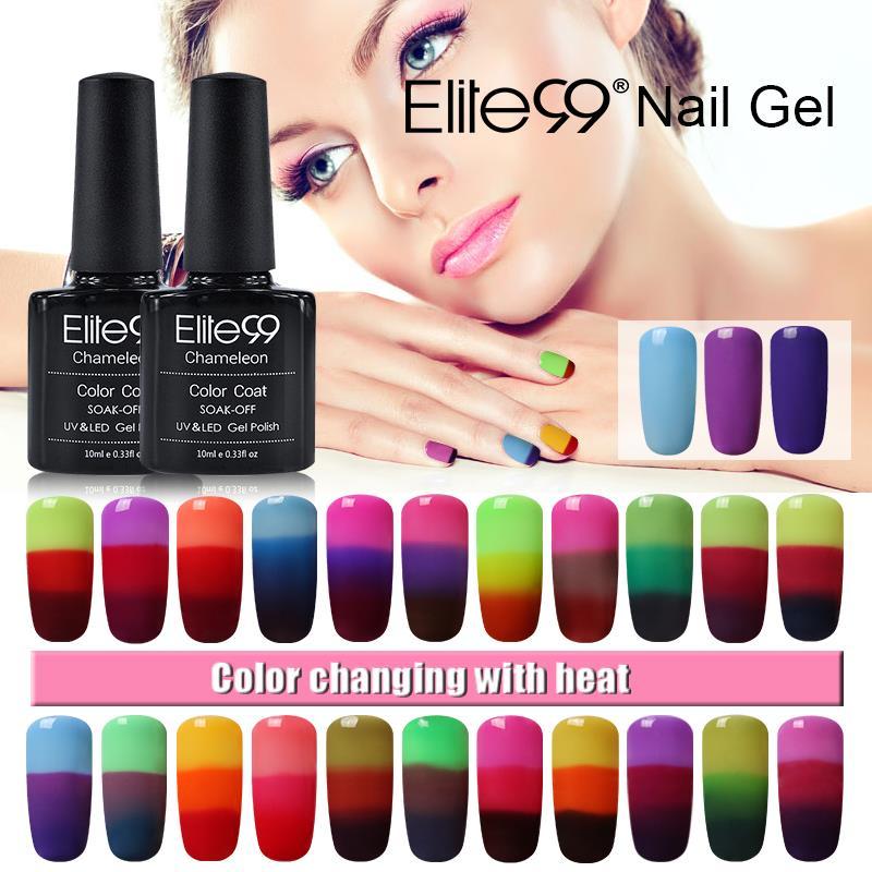 Color Changing Gel Nail Polish: Aliexpress.com : Buy Elite99 32 Color Changing Gel Polish