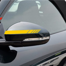 2pcs Car Styling Auto SUV Vinyl Graphic Car Sticker Rearview Mirror Side Decal Stripe for Opel Ford Focus Buick(China)