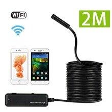 Wi-fi эндоскоп для apple ios и android телефонов, 2.0 Мегапиксельная CMOS HD Бороскоп Водонепроницаемая Видеокамера Инспекции Змея Камеры