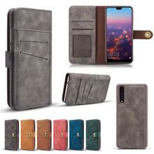 Для huawei P20 P30 Lite съемный кожаный бумажник Flip Стенд чехол для телефона для p20 p30 pro съемный магнитный автомобиля крышка крепления случае