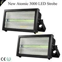 2 einheit/lot Kreative Atom 3000 LED & Xenon DMX Strobe Licht Aura Hintergrundbeleuchtung (RGB) strobe Waschen Blinder Bühne Beleuchtung Ausrüstung