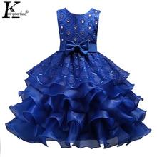 Filles Nouvelle Robe Enfants Robes Pour Les Filles De Noël Vêtements Parti Princesse De Mariage robe Enfants Robe 3 5 6 7 8 9 10 11 12 année