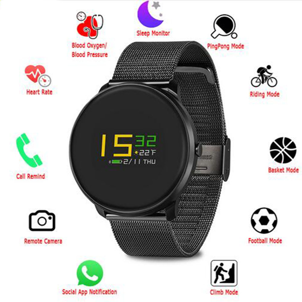 цена на K9S Colorful Moving Bracelet IP67 Smart Watch Wristband Band Heart Rate Monitor Blood Pressure for iPhone 7 7 Plus PK mi band 2
