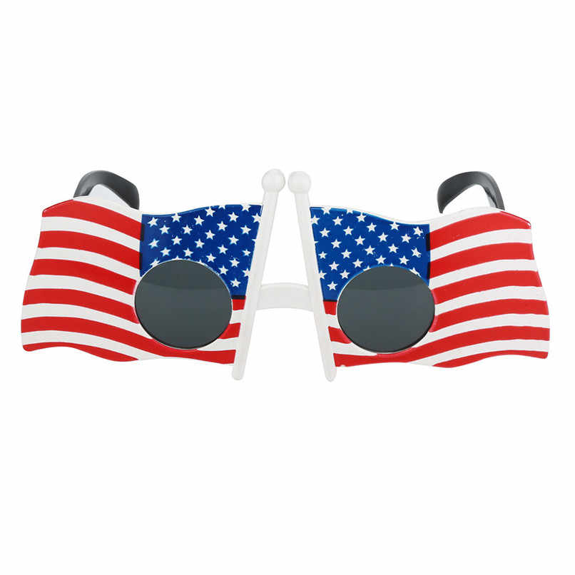 638ee661a9cd Cool American Flag Sunglasses USA Patriotic Design for 4th of July Party  Props H35