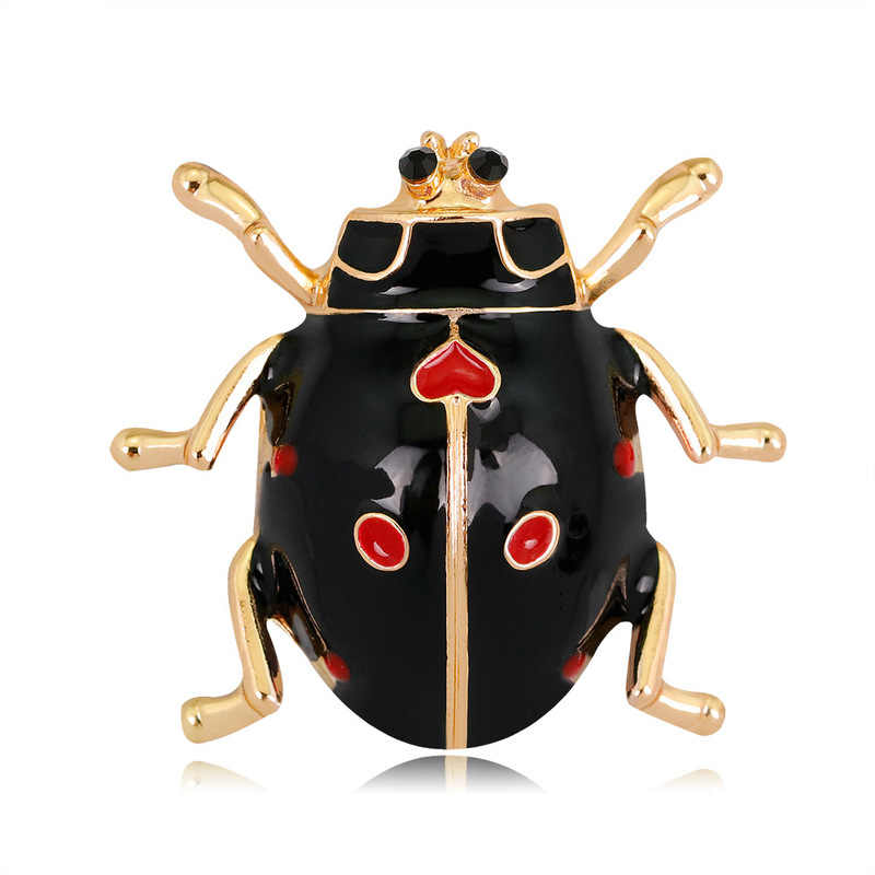 2019 Baru Sederhana Kartun Serangga Baru Bros Fashion Korea Versi Ladybug Wanita Bros Pin untuk Wanita Korsase Perhiasan Aksesoris