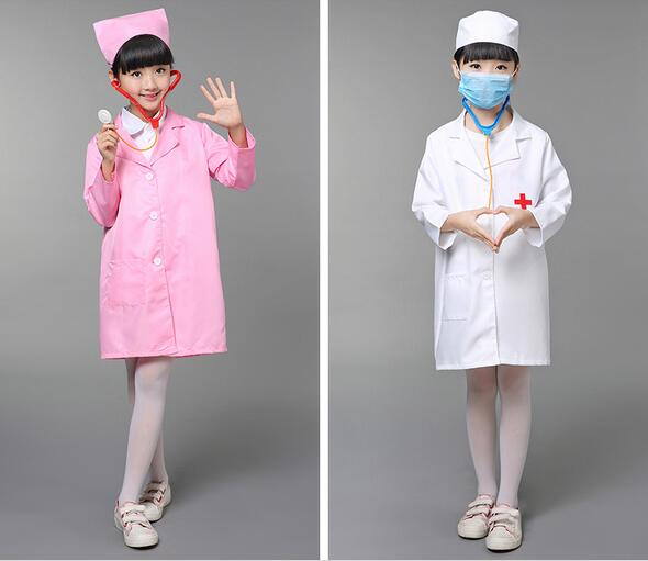 2017 children halloween cosplay costume kids doctor dress nurse uniform performance clothes bachelors clothing student dress - Kids Doctor Halloween Costume