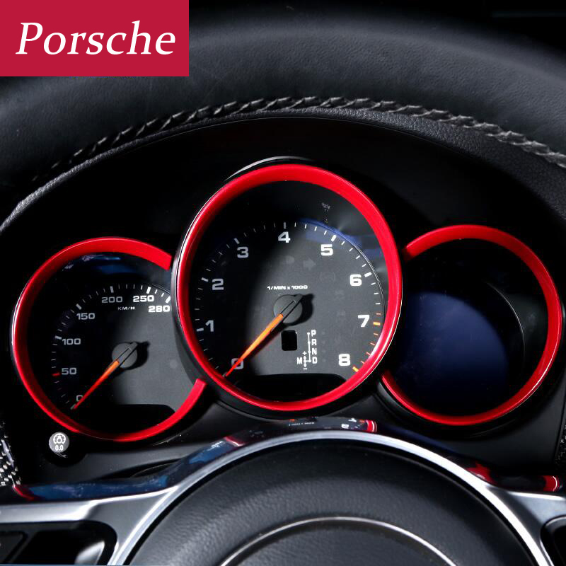 Car styling interior dashboard decorative cover frame 3M double-sided tape for Porsche Macan Cayman Boxster 911 Panamera cayenne car navigation control panel decorative frame dedicated interior refit for porsche macan s turbo cayenne panamera s 3d sticker