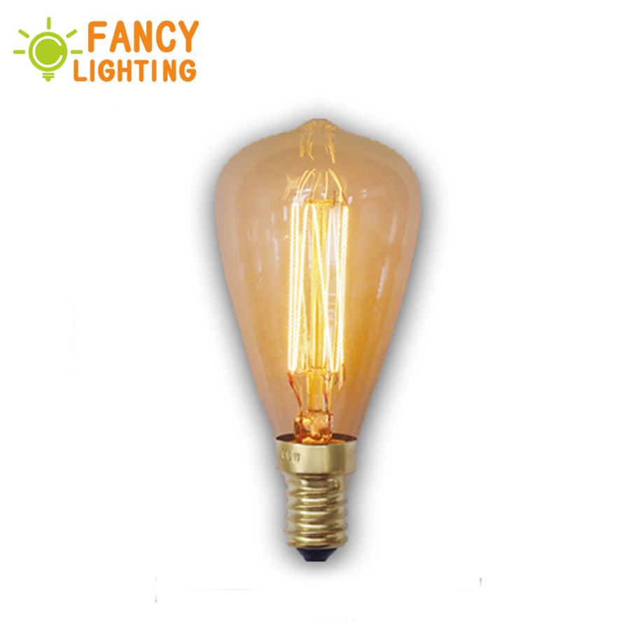 Antique Retro St48 Edison Bulbs E14 Ac 220v Incandescent Bulbs 40w Filament Vintage Edison Light For Pendant Lamp Decoration At All Costs Incandescent Bulbs