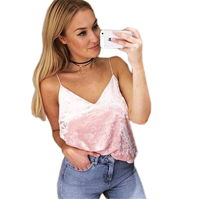 46521c3bd52 Brand V-Neck Spaghetti Strap Tank Tops Sexy Women Design Cold Shoulder  Shirt Loose Short