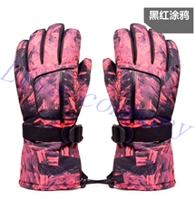 2016 hot sale a pair of colorful winter riding gloves waterproof windproof outdoor ski glove thickening motorcycle glove
