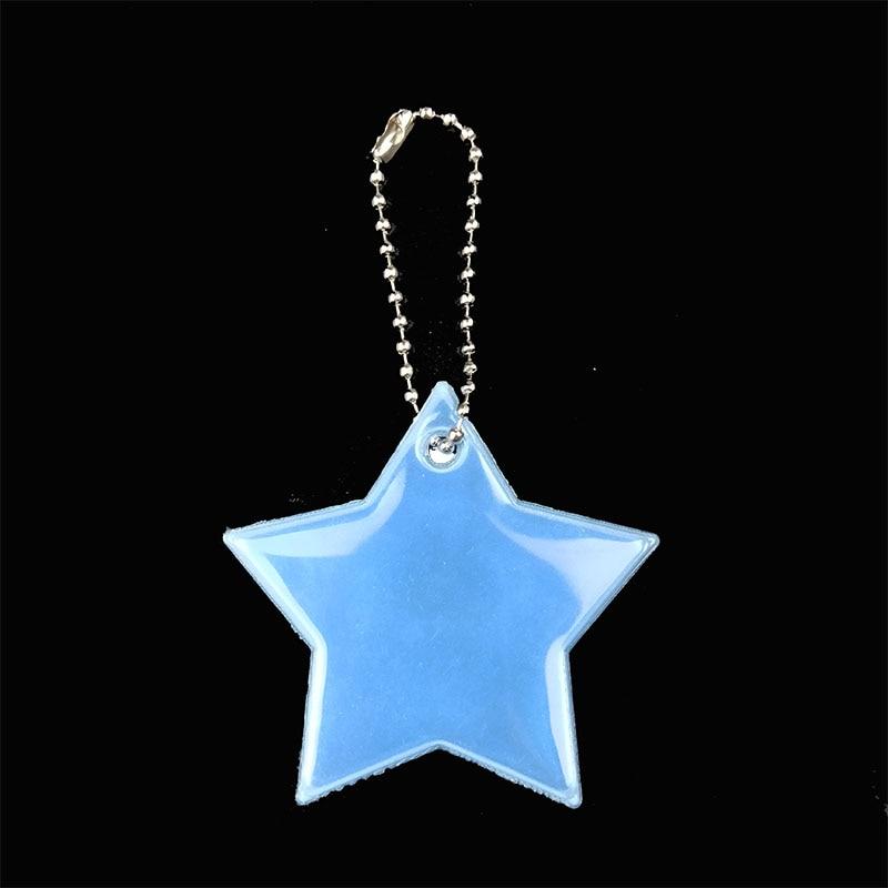 Маленькая звезда сумка брелок милый мягкий ПВХ отражающий брелок, подвеска для машины Шарм сумка Аксессуары для безопасности дорожного движения использования - Название цвета: light blue