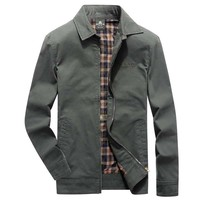 New Fashion Spring Autumn Men Casual Jacket American Military Jackets Cotton Coat Office Business Leisure Jacket Plus Size M 4XL