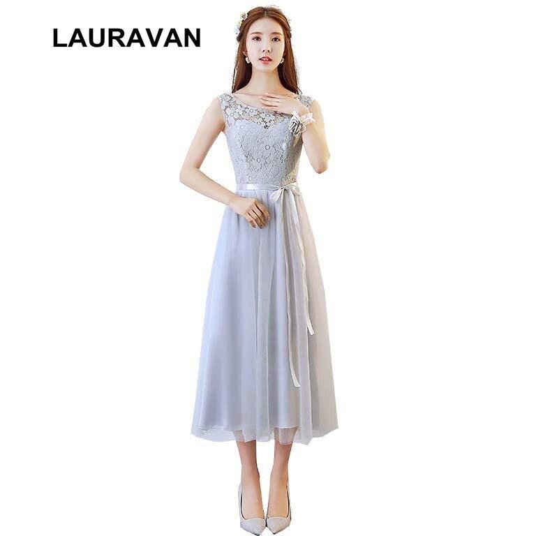Grey Sexy Womens Bridesmaid Dresses Plus Size 2018 Robes De Soiree