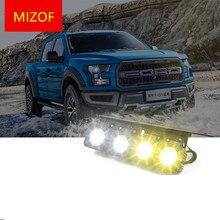 Бело-золотые светодио дный переднего бампера день Туман свет для Форд Raptor F150 2009 10 11 12 13 14 15 16 17 ADB004