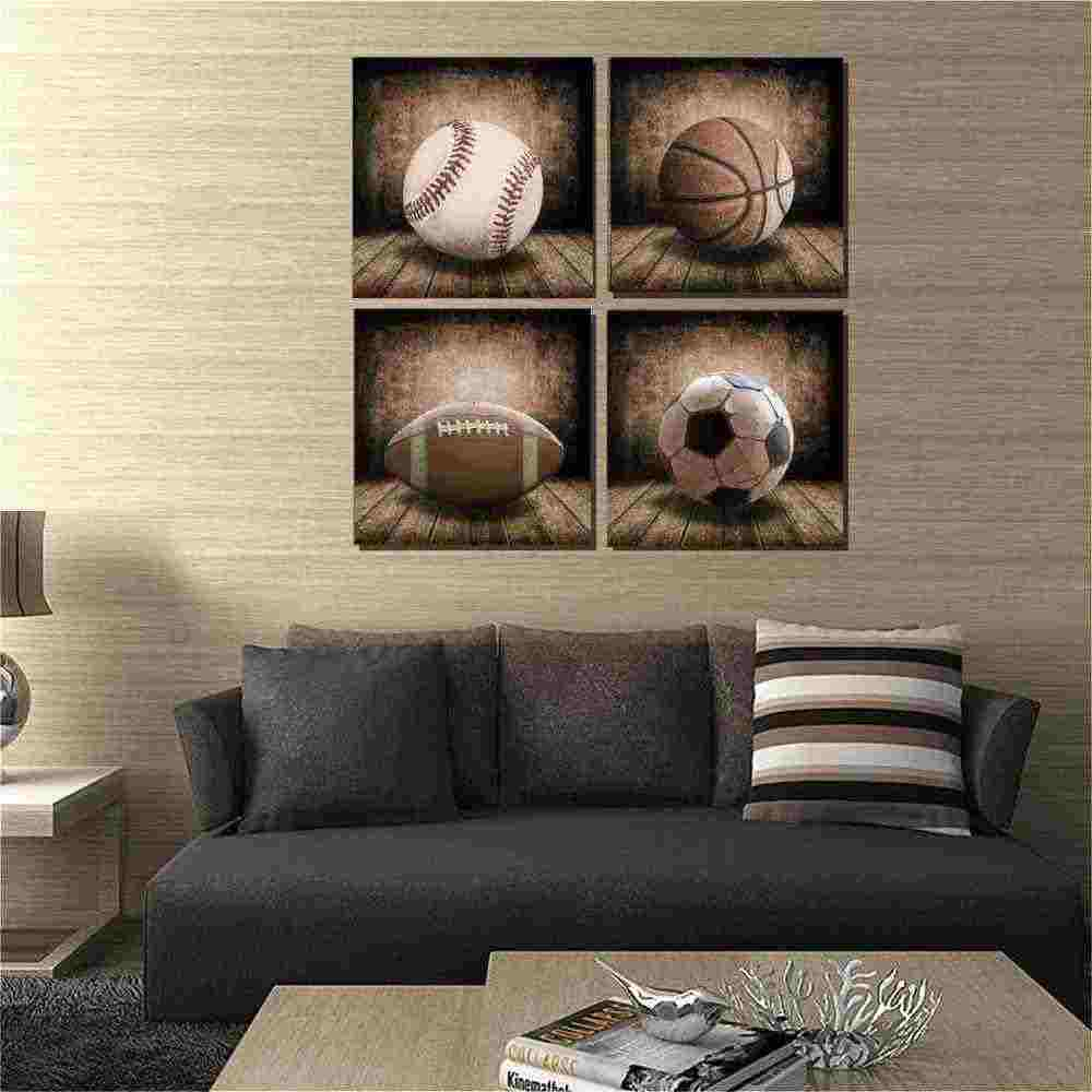 Kids Room Sports Canvas Posters Basketball American Football