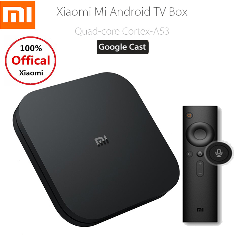 NEW Xiaomi Mi Box S 4K TV Box Cortex-A53 Quad Core 64 Bit Mali-450 Android 8.1 2GB+8GB HDMI2.0 2.4G/5.8G WiFi BT4.2 Set Top Box платье tommy hilfiger denim tommy hilfiger denim to013ewufk13